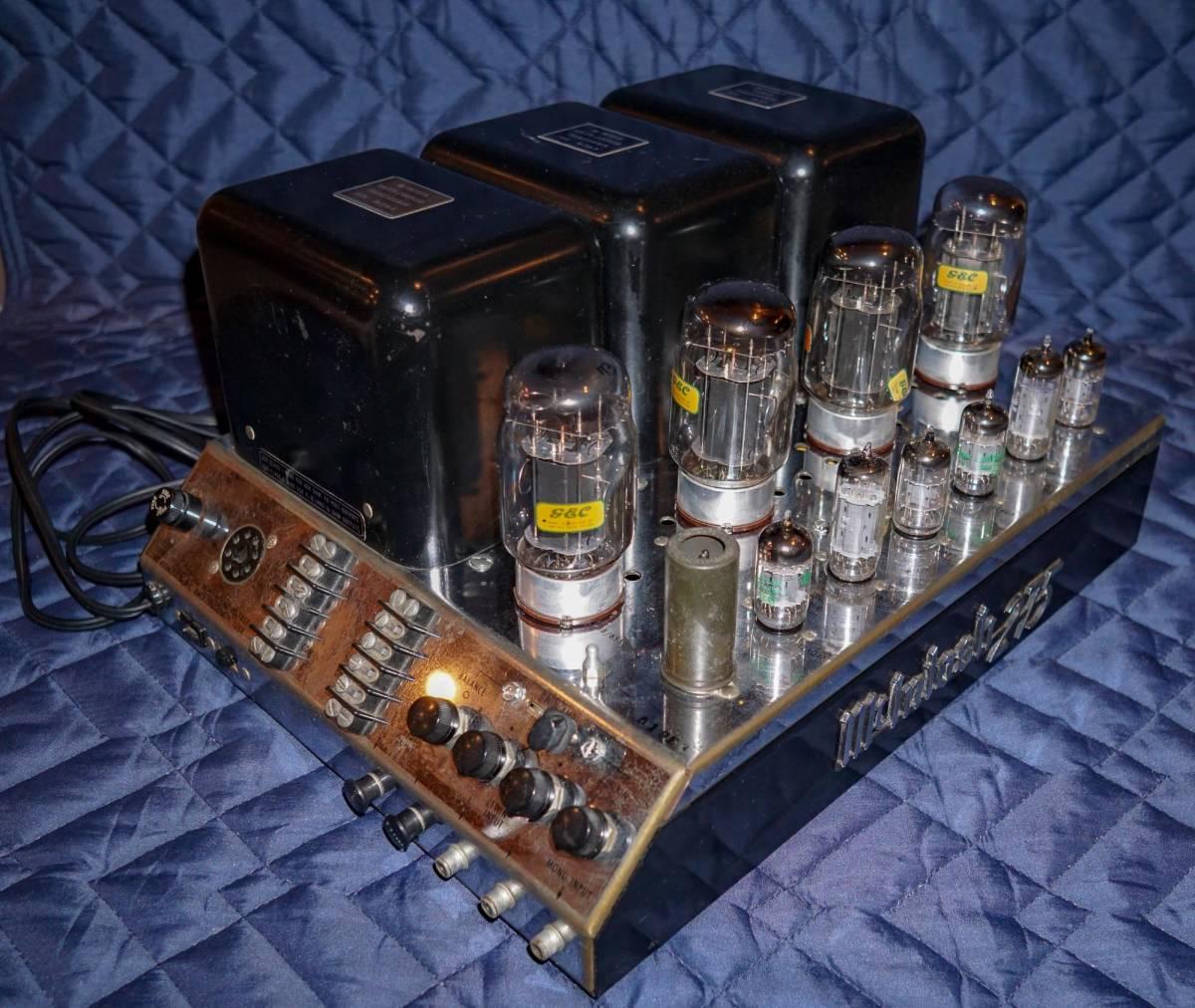 McIntosh / Macintosh MC275 original GEC KT88 use tube lamp type power amplifier Vintage electrification operation verification