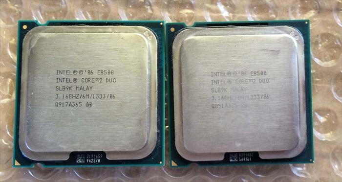 Core2 Duo E8500 2枚組み・送料無料 ③