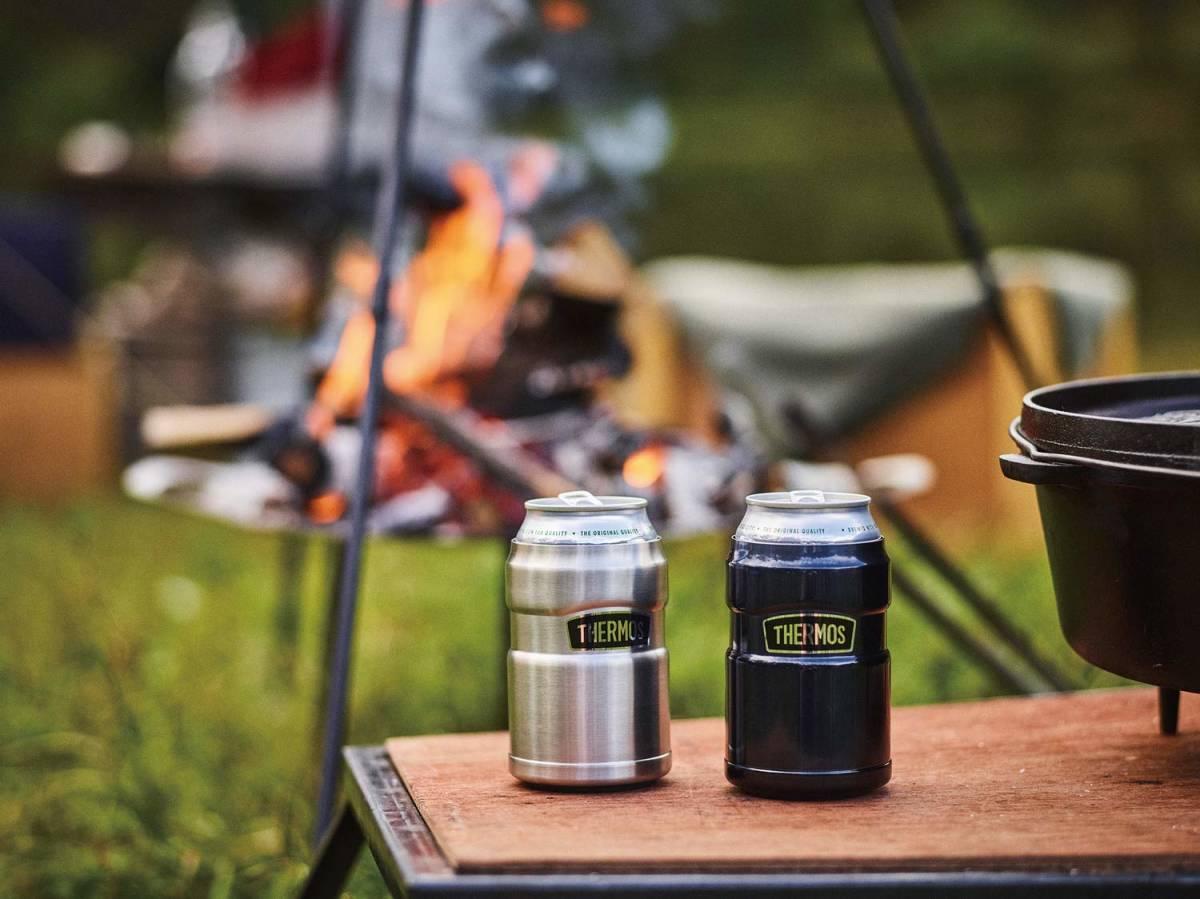 サーモス アウトドアシリーズ 保冷缶ホルダー ステンレス 350ml缶用 2wayタイプ ROD-002 S キャンプ アウトドア バーベキュー 普段使いに_画像3