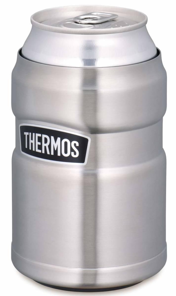サーモス アウトドアシリーズ 保冷缶ホルダー ステンレス 350ml缶用 2wayタイプ ROD-002 S キャンプ アウトドア バーベキュー 普段使いに_画像2