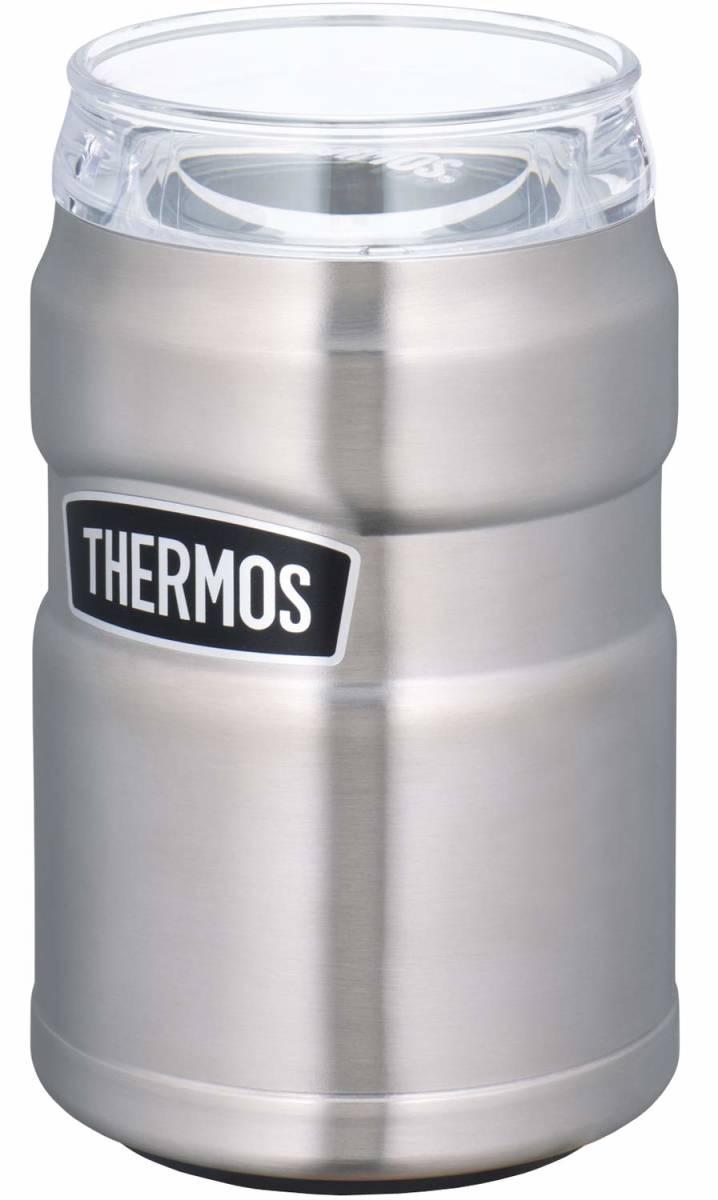 サーモス アウトドアシリーズ 保冷缶ホルダー ステンレス 350ml缶用 2wayタイプ ROD-002 S キャンプ アウトドア バーベキュー 普段使いに