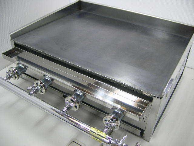 03-1161 新品 下野金属 AKS 鉄板焼器 AK-1 都市ガス グリラー グリドル 鉄板焼き器 業務用 お好み焼き 卓上ガスコンロ 610×460×180_画像1