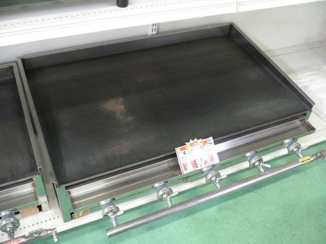 03-1166 新品 下野金属 AKS 鉄板焼器 AK-3 都市ガス グリラー グリドル 鉄板焼き器 業務用調理機器 お好み焼き ガス式 厨房機器 910×560_画像1