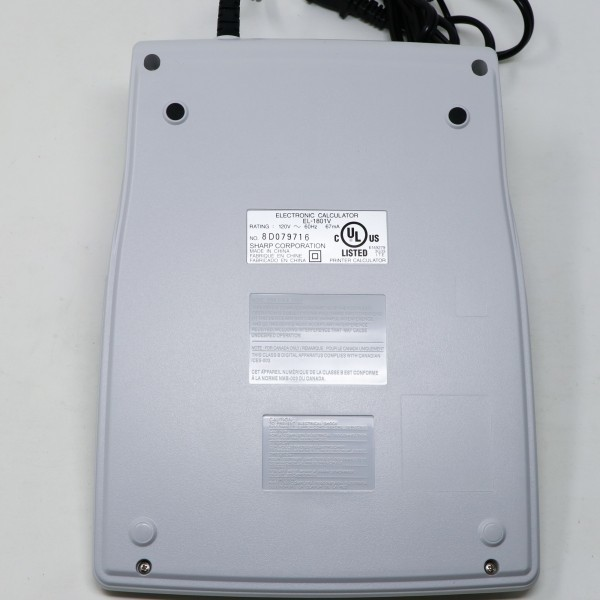 未使用新品 箱破損品■SHARP プリンター電卓 EL-1801V 12桁_画像4