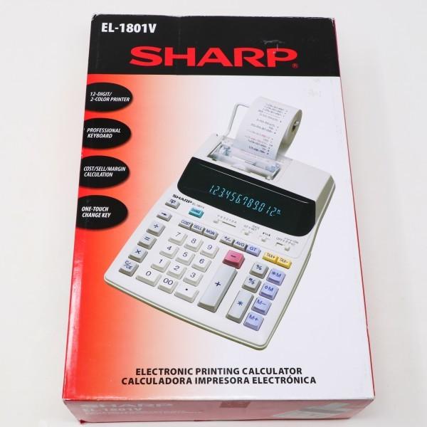 未使用新品 箱破損品■SHARP プリンター電卓 EL-1801V 12桁_画像5