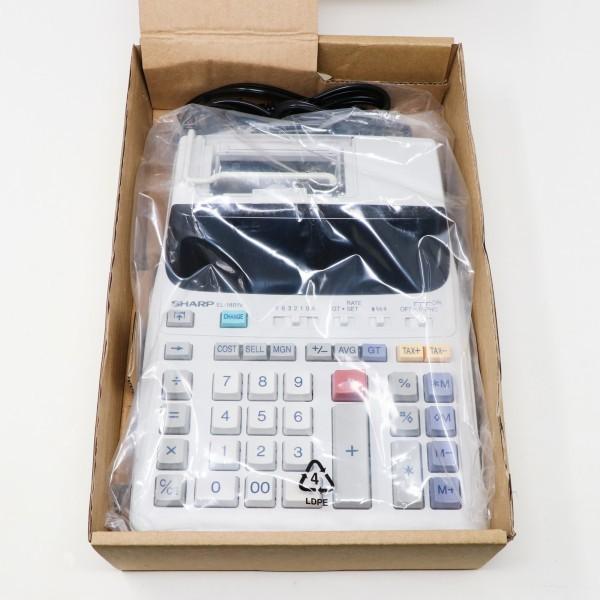 未使用新品 箱破損品■SHARP プリンター電卓 EL-1801V 12桁_画像2