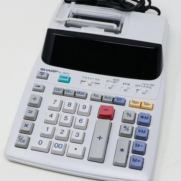 未使用新品 箱破損品■SHARP プリンター電卓 EL-1801V 12桁_画像3