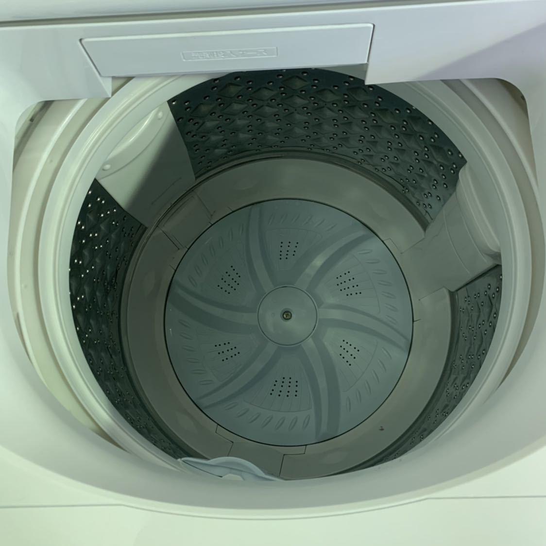 格安!美品 TOSHIBA東芝 AW-7D7 2019年製 ZABOON全自動 洗濯機 7kg ホワイト系 取説/付属品 有 動作確認OK_画像3