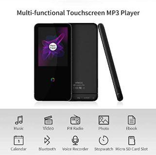 16GB Bluetooth付き MP3プレーヤー 2.4インチ スピーカー/FMラジオ/ボイスレコーダー付き ランニング用ヘッドフォンとアームバンド付き_画像4