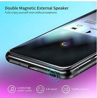 16GB Bluetooth付き MP3プレーヤー 2.4インチ スピーカー/FMラジオ/ボイスレコーダー付き ランニング用ヘッドフォンとアームバンド付き_画像3