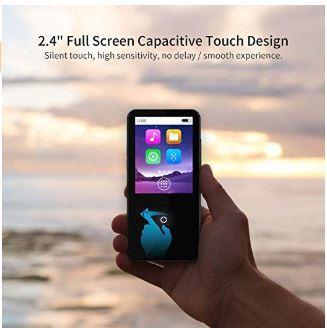 16GB Bluetooth付き MP3プレーヤー 2.4インチ スピーカー/FMラジオ/ボイスレコーダー付き ランニング用ヘッドフォンとアームバンド付き_画像2