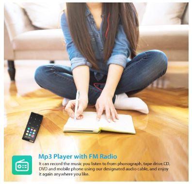 Bluetooth搭載MP3プレーヤー Hi-Fiロスレスサウンド FMラジオ ボイスレコーダー 歩数計 最大128GB アームバンドとイヤホン付き ブラック_画像4