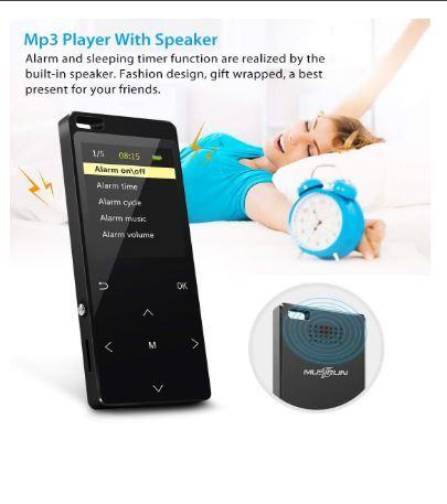 Bluetooth搭載MP3プレーヤー Hi-Fiロスレスサウンド FMラジオ ボイスレコーダー 歩数計 最大128GB アームバンドとイヤホン付き ブラック_画像6