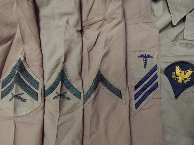 ◆古着卸USA■ミリタリーシャツ19枚セット★★★M+S  長袖/半袖MIX アメリカ直輸入 米軍_画像6