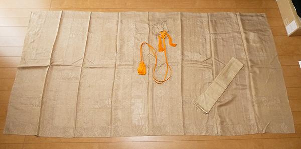 臨済宗 七条袈裟 座具付 僧侶仏教仏具法衣袈裟装束