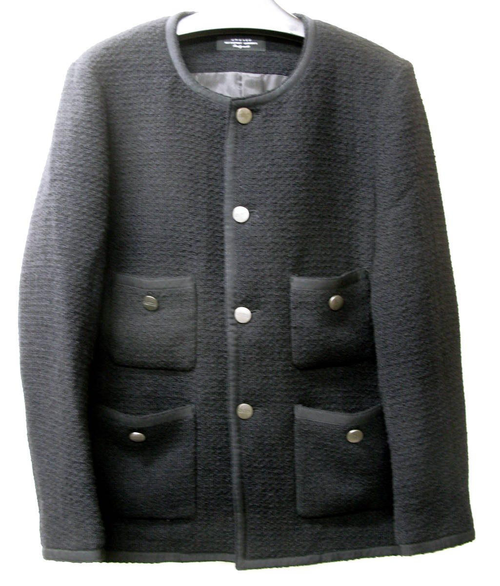 アンユーズド UNUSED×LINTON FABRIC:ノーカラー ツイード ジャケット ( リントン jacket_画像1
