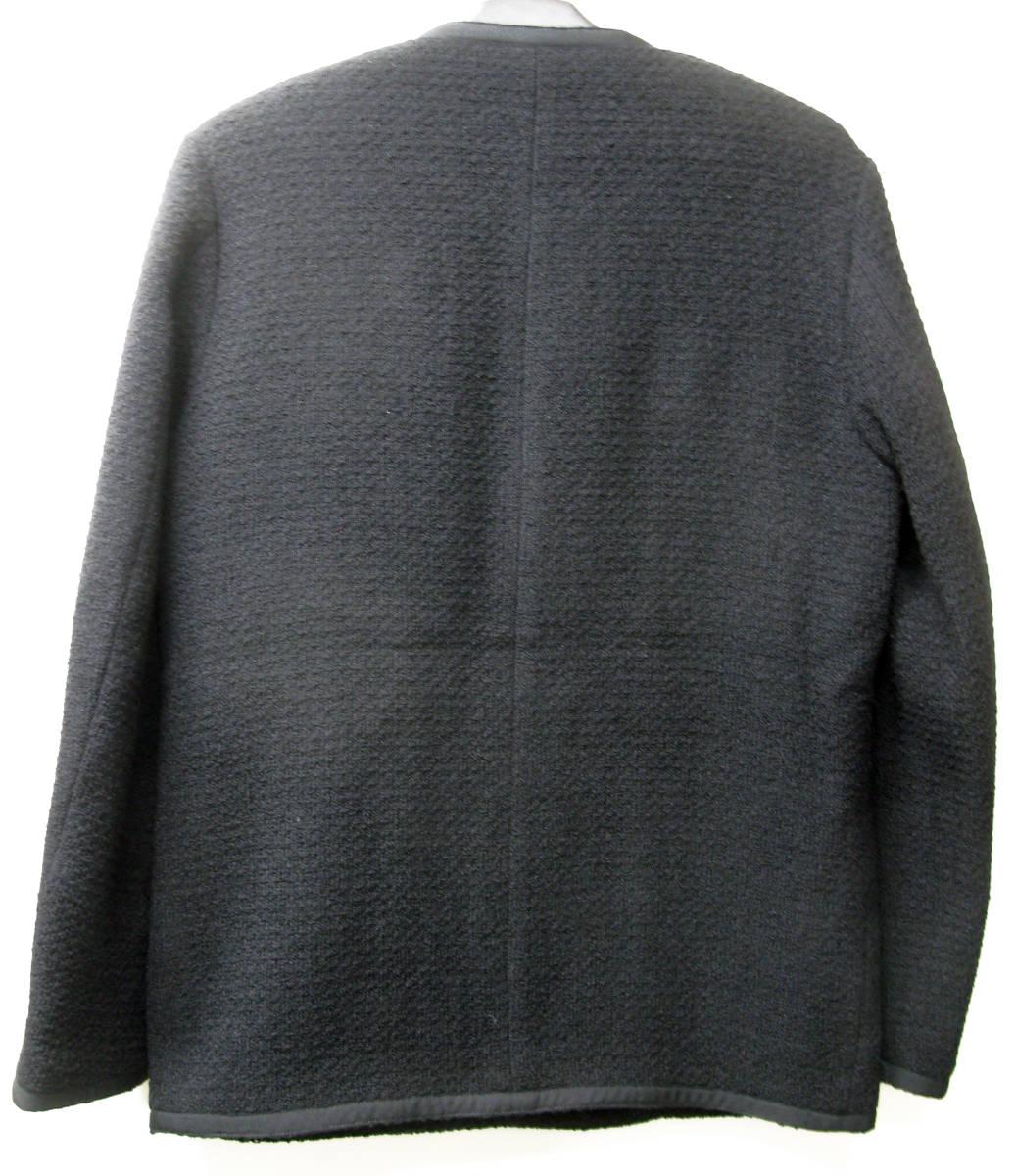 アンユーズド UNUSED×LINTON FABRIC:ノーカラー ツイード ジャケット ( リントン UNUSED×LINTON FABRIC Men's jacket_画像2