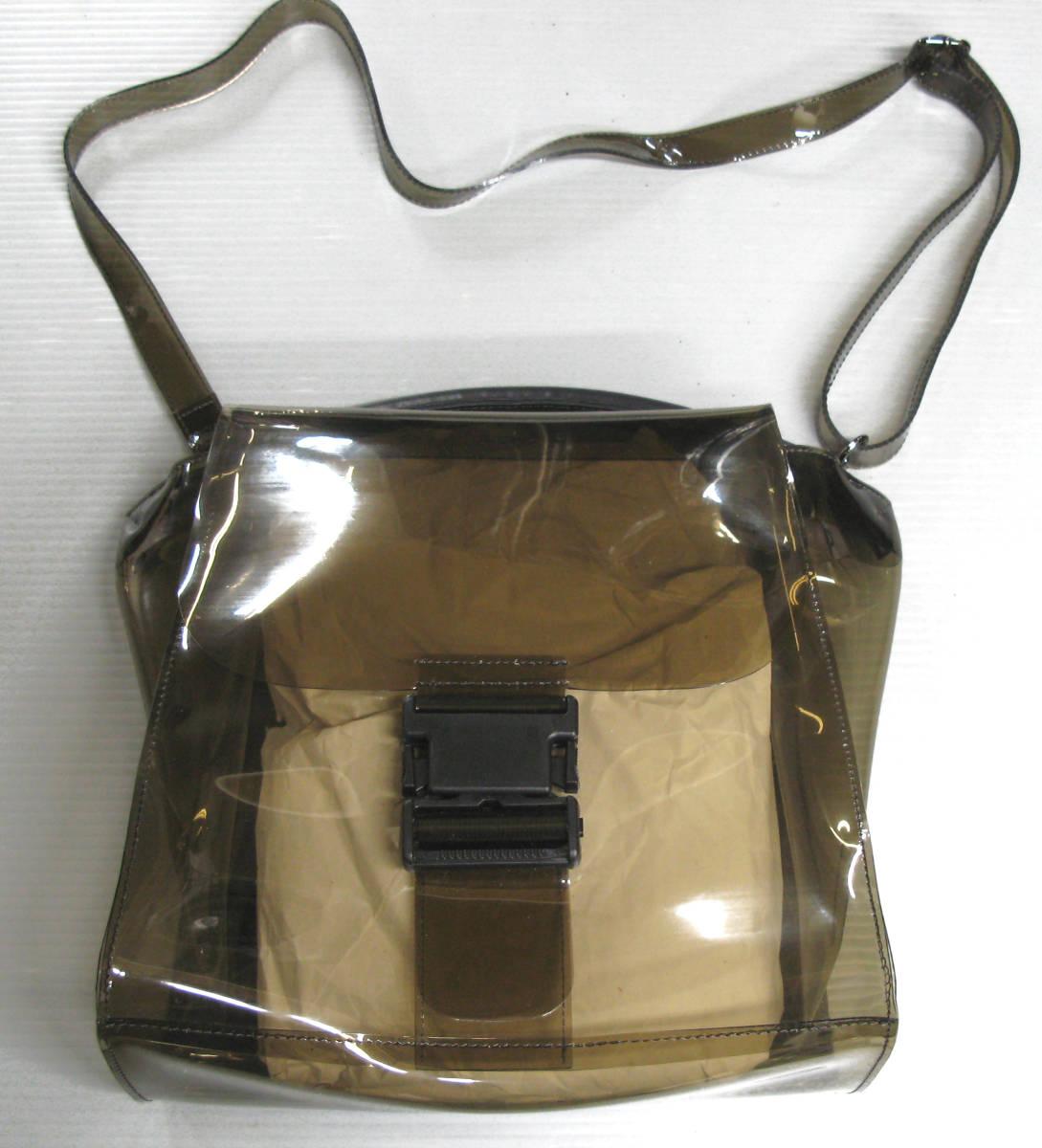 ズッカ ZUCCA*ビニール ショルダー バッグ ( 2WAYバッグ クリアバッグ キャンディバッグ バックルバッグ bag_画像1