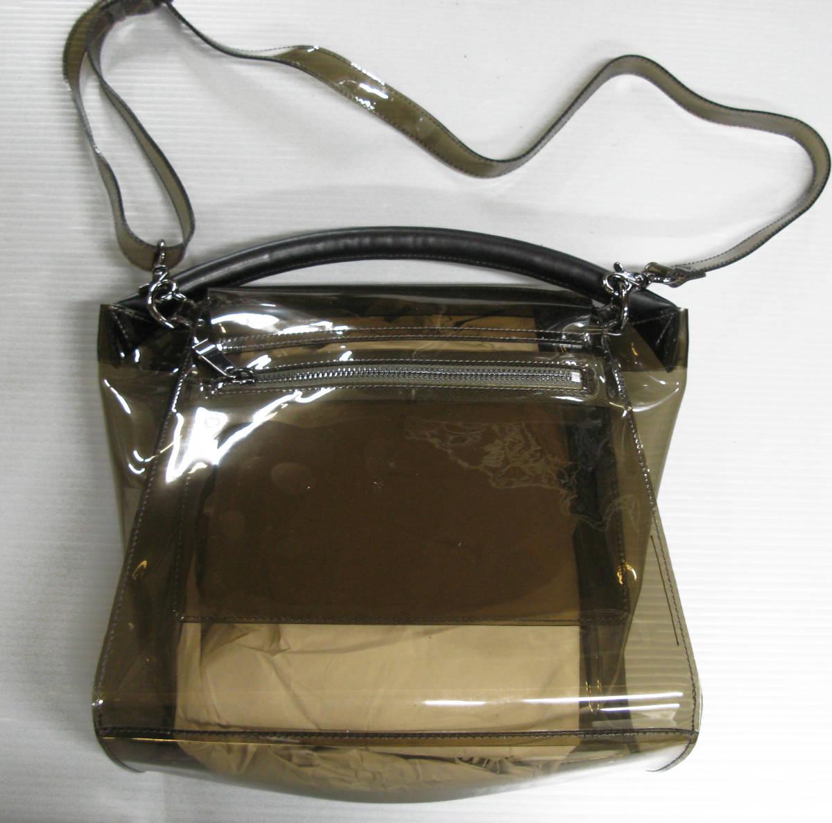 ズッカ ZUCCA*ビニール ショルダー バッグ ( 2WAYバッグ クリアバッグ キャンディバッグ バックルバッグ bag_画像2