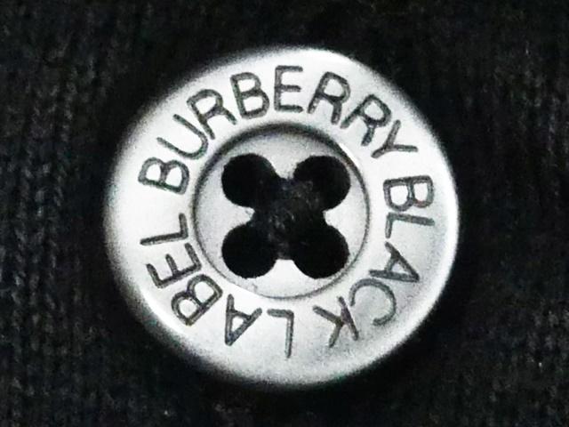 即決★BURBERRY BLACK LABEL★メンズM 廃版 ポロシャツ バーバリーブラックレーベル 2 半袖 ボーダー 三陽商会正規 ナイト刺繍_画像5