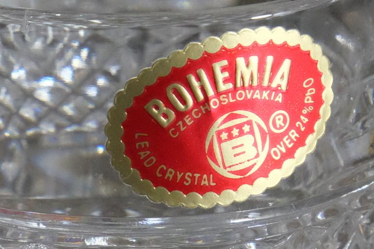 ボヘミアクリスタル ロックグラス 5客 未使用箱入  オールドファッショングラス タンブラー ウイスキー 水割り _画像5