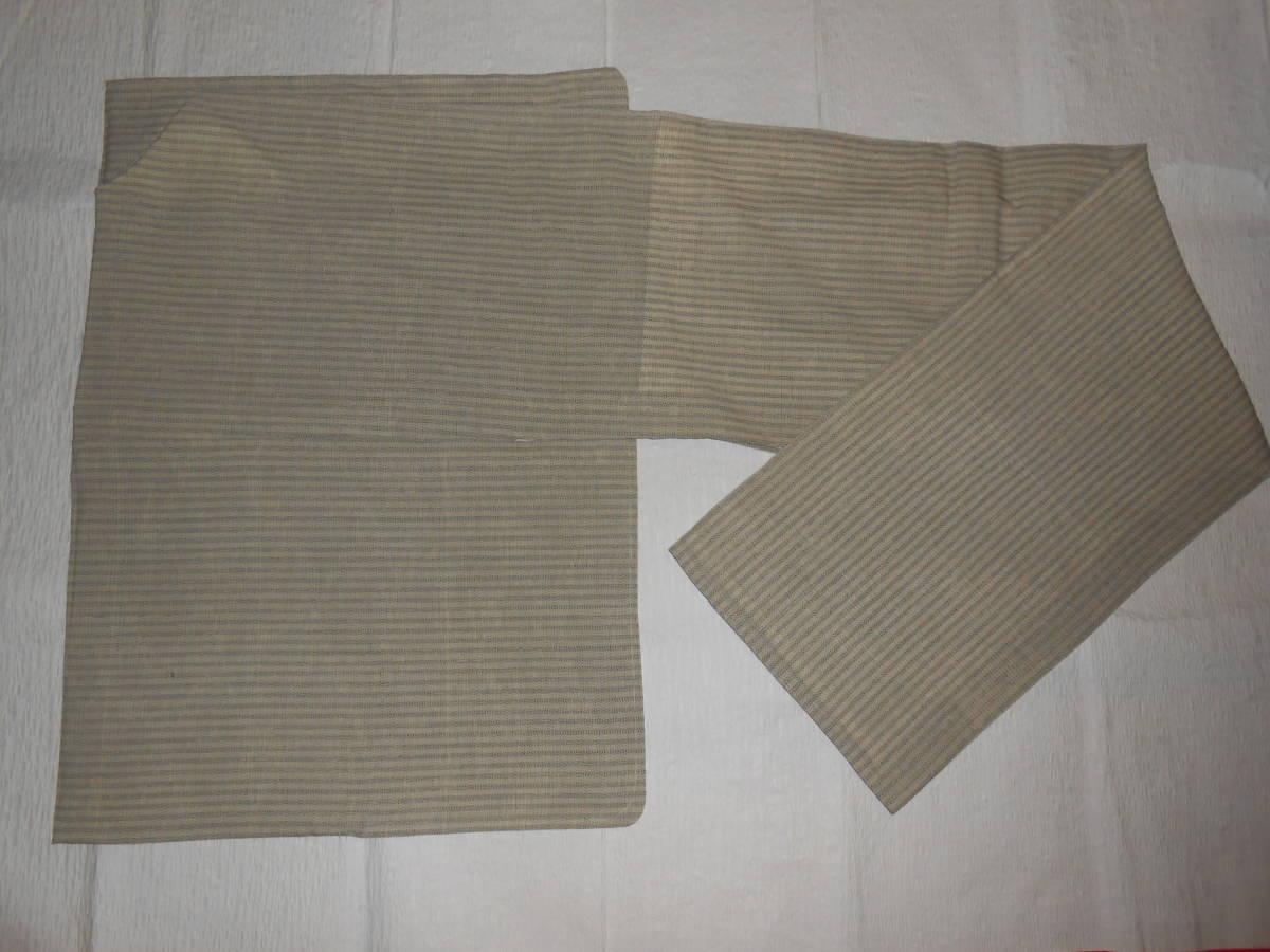 薩摩絣 綿薩摩 仕立て上がり 単衣 作家物 未着用 着丈約155cm ハギレあり