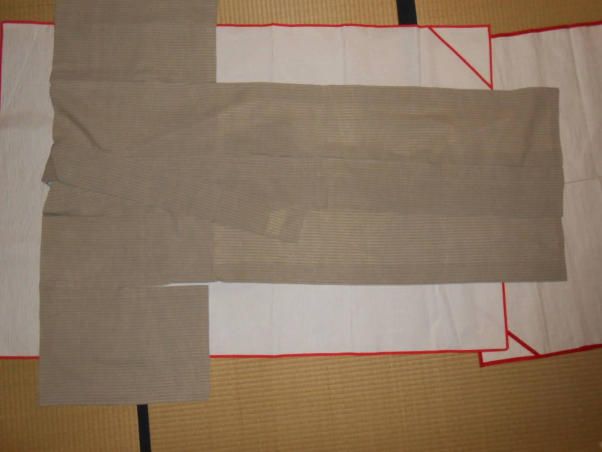 薩摩絣 綿薩摩 仕立て上がり 単衣 作家物 未着用 着丈約155cm ハギレあり_画像3