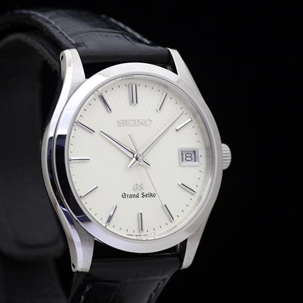 1円 極美品 GS グランドセイコー SBGV003 9F82-0A10 メンズ クォーツ 腕時計 アイボリー文字盤