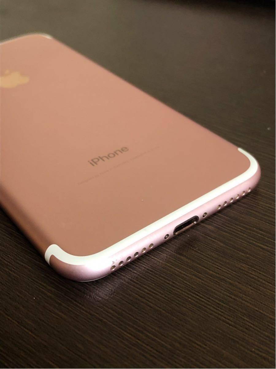 良品・ 海外版SIMフリー・Apple iPhone 7 128gb・ローズゴールド・安心・一括購入・外国でも使用可・_画像7