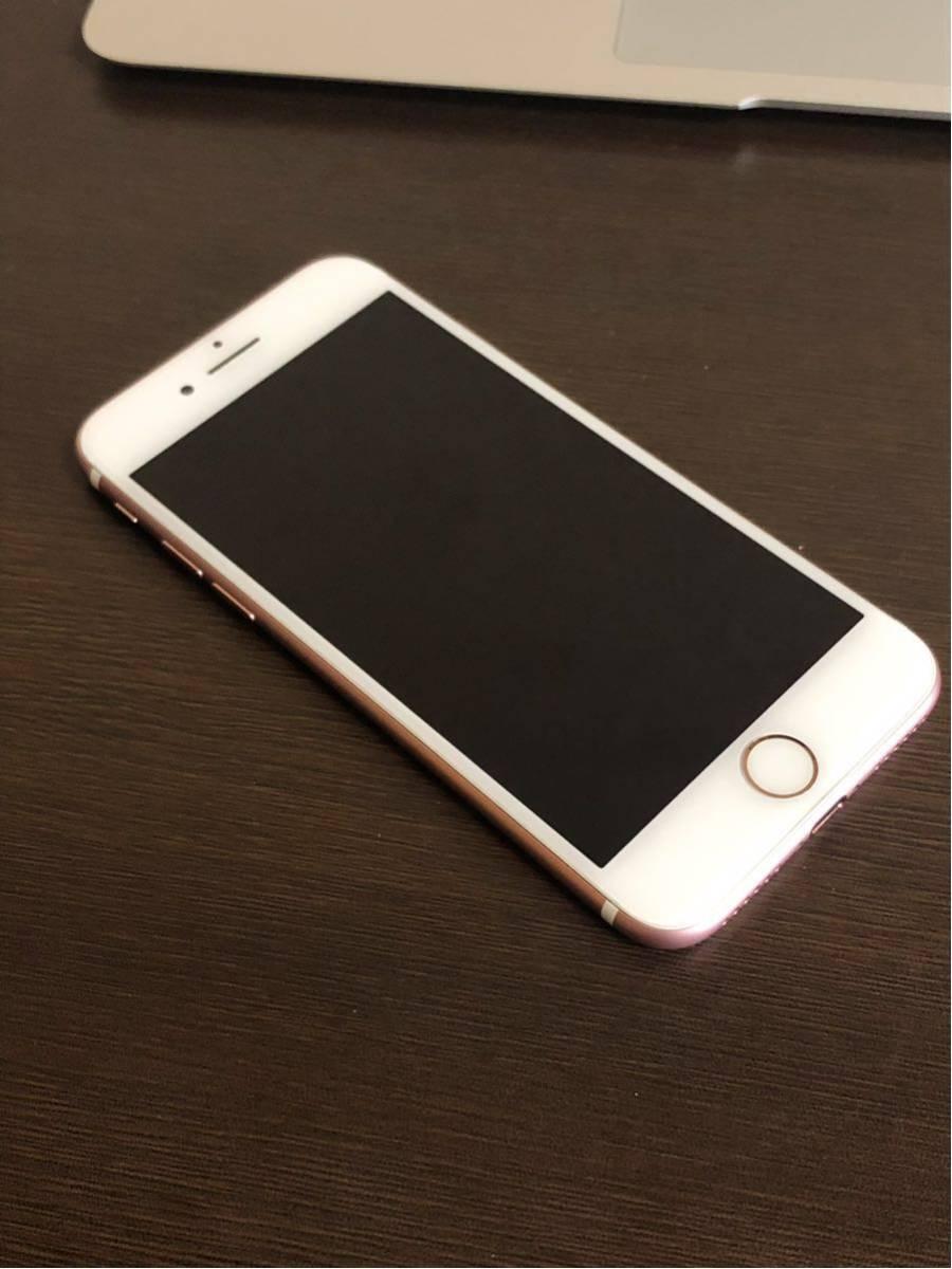 良品・ 海外版SIMフリー・Apple iPhone 7 128gb・ローズゴールド・安心・一括購入・外国でも使用可・_画像2