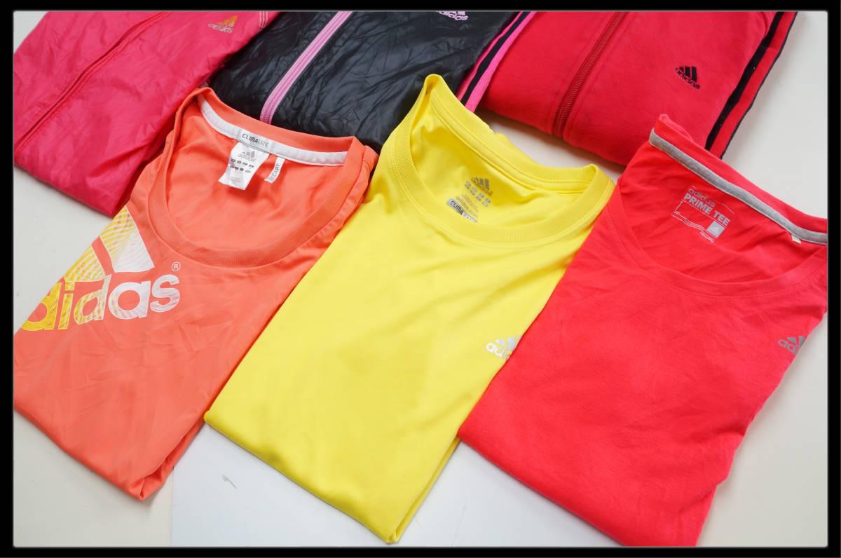 ★☆1円スタート!★☆ adidasのみ!! ☆★  レディースLサイズ 6枚セット■S3053_画像3