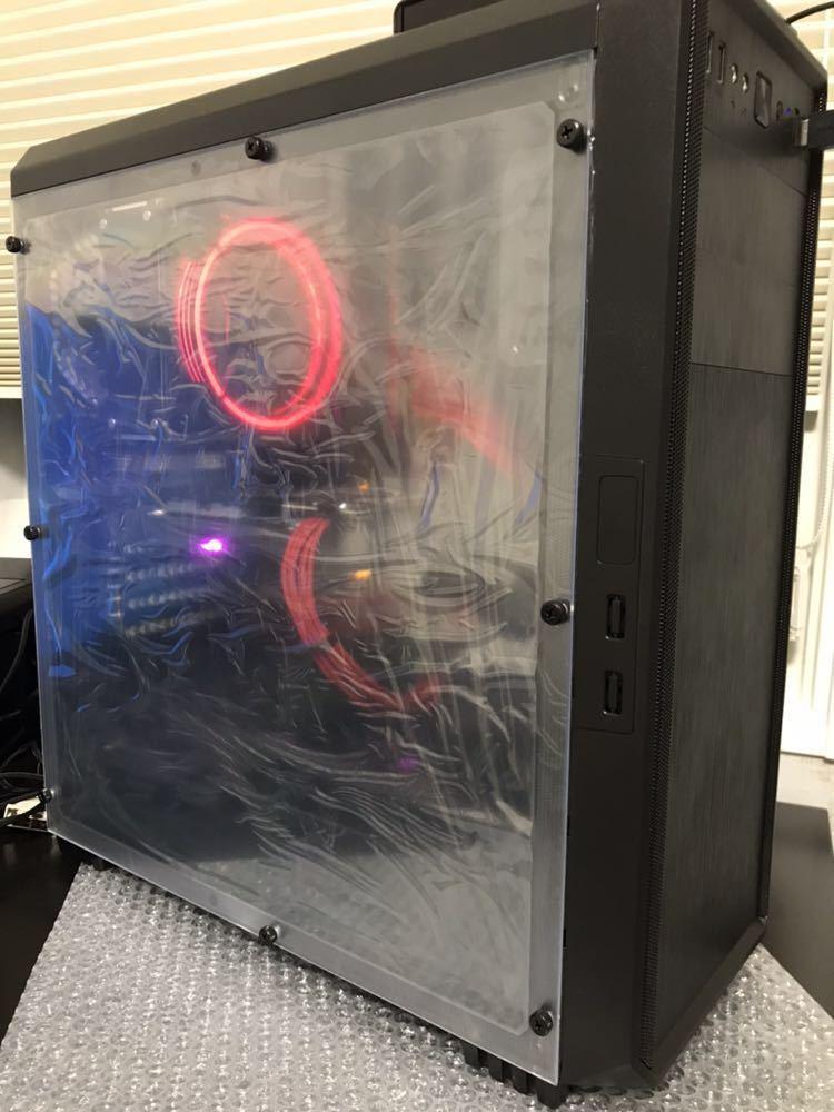 i3 8100 H370 ASUS RX570 STRIX 新品ケース ゲーミングPC Windows10 自作PC スリーブケーブル付_画像8