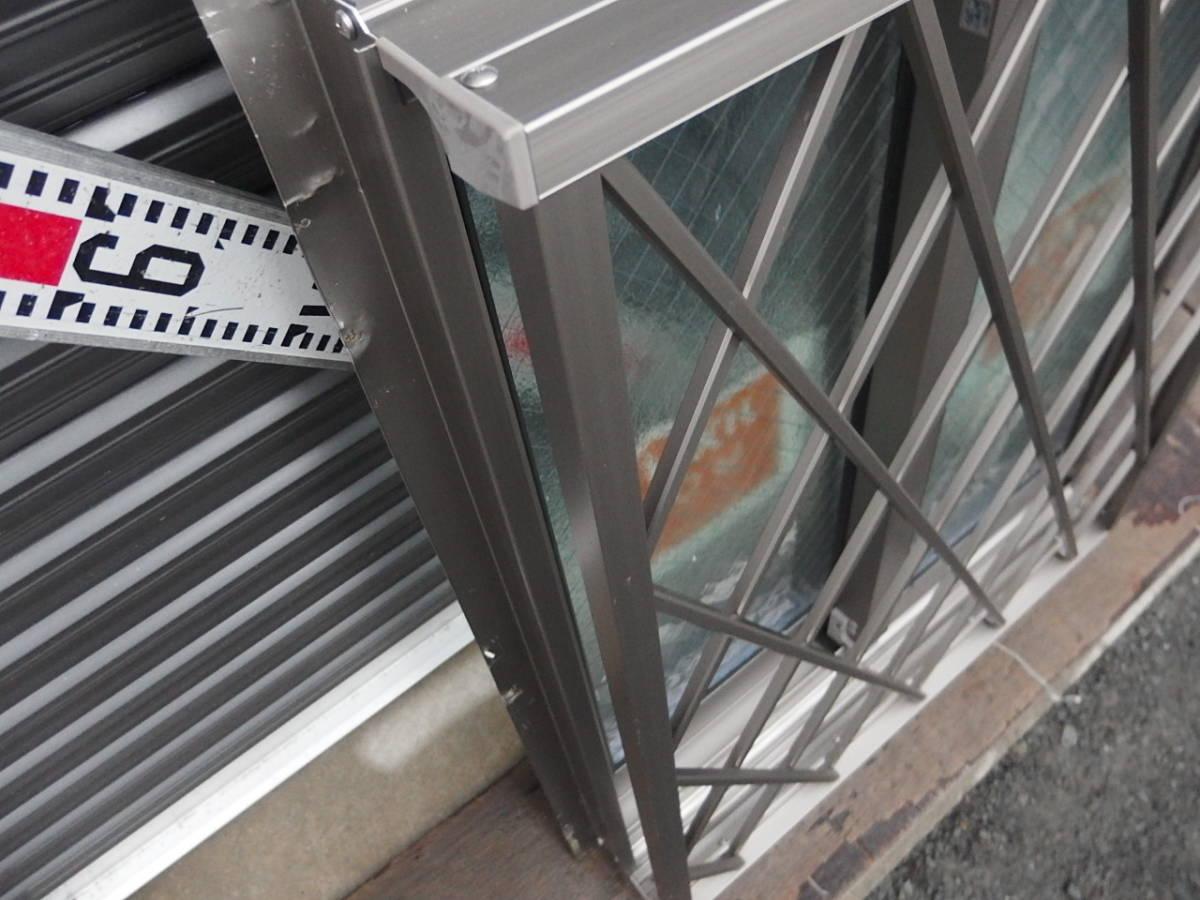 在庫品 アルミサッシ LowE ペアガラス 引違い窓 05707(06007)シャイングレー ヒシクロス格子_画像4