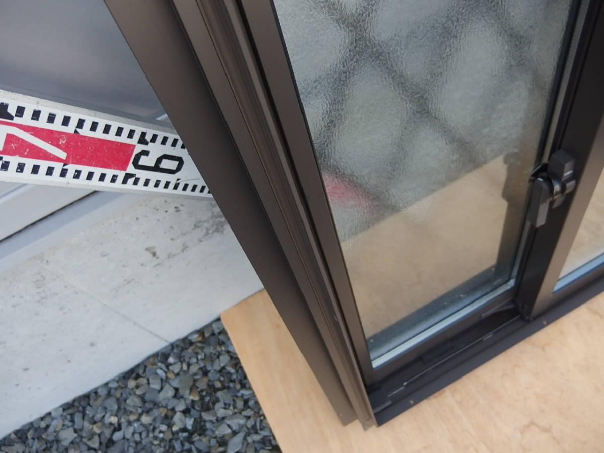 在庫品 アルミサッシ LowE ペアガラス 引違い窓 06007 ヒシクロス格子 オータムブラウン_画像5