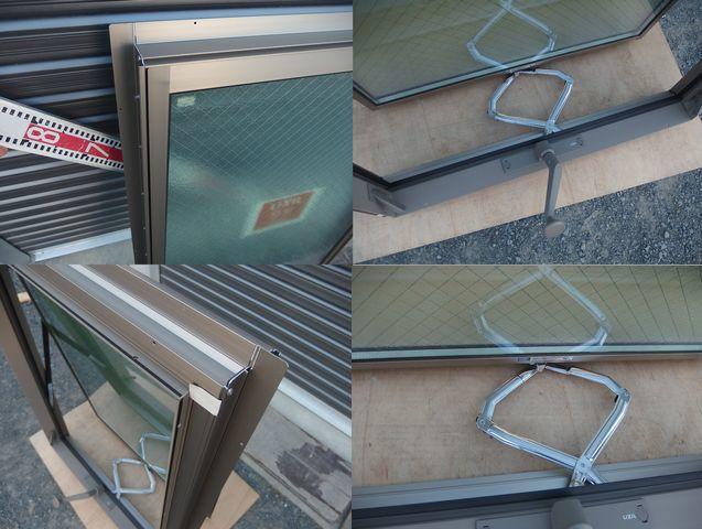 在庫品 アルミサッシ LowE ペアガラス 横すべり出し窓 オペレーター 06609 (06909) シャイングレー_画像7