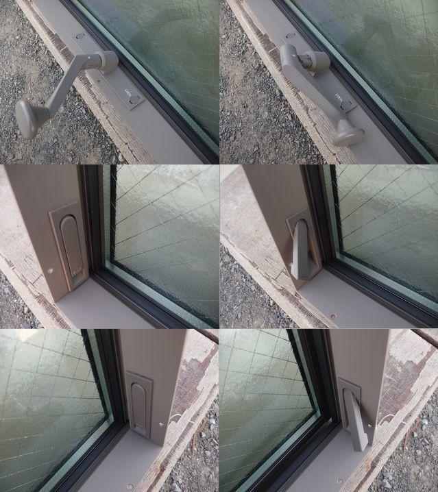 在庫品 アルミサッシ LowE ペアガラス 横すべり出し窓 オペレーター 06609 (06909) シャイングレー_画像6