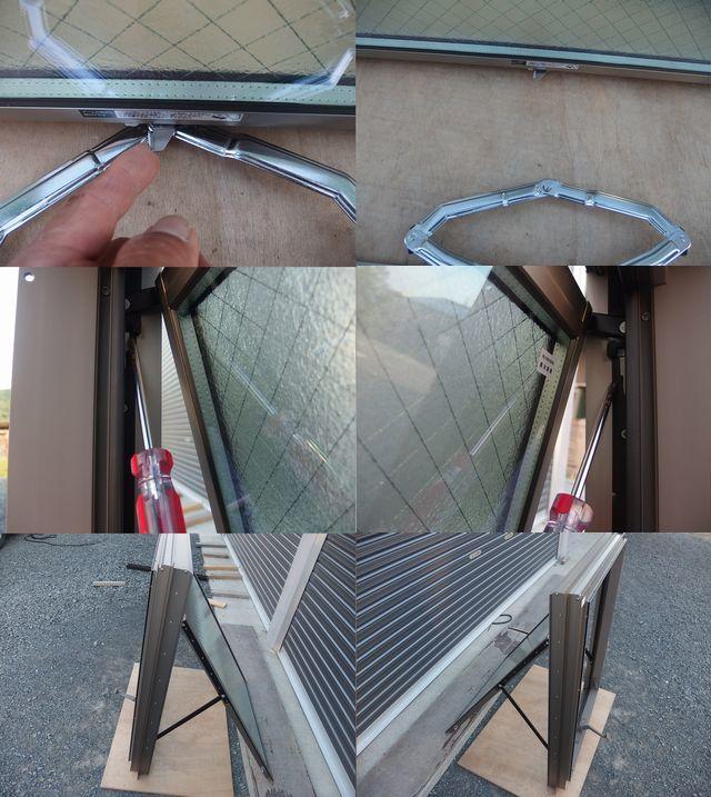 在庫品 アルミサッシ LowE ペアガラス 横すべり出し窓 オペレーター 06609 (06909) シャイングレー_画像8