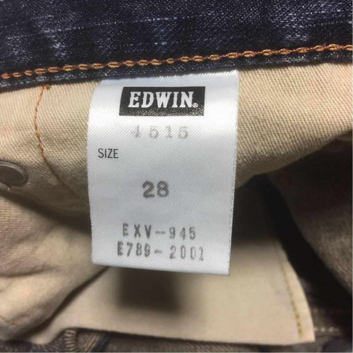 即決 エドウィン EDWIN デニム ハーフパンツ ダメージ加工 サイズ29約74cm