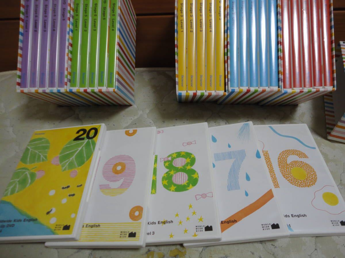 【美品】WWKE World Wide Kids English DVDフルセット(Stage1~6 全30枚)_画像5