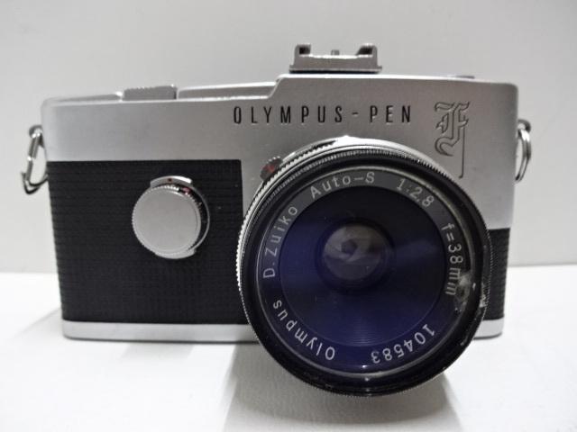 古いカメラ OLYMPUSーPEN F アンティーク ジャンク品 レトロ