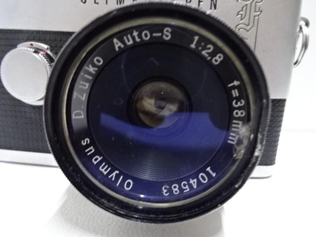 古いカメラ OLYMPUSーPEN F アンティーク ジャンク品 レトロ_画像7