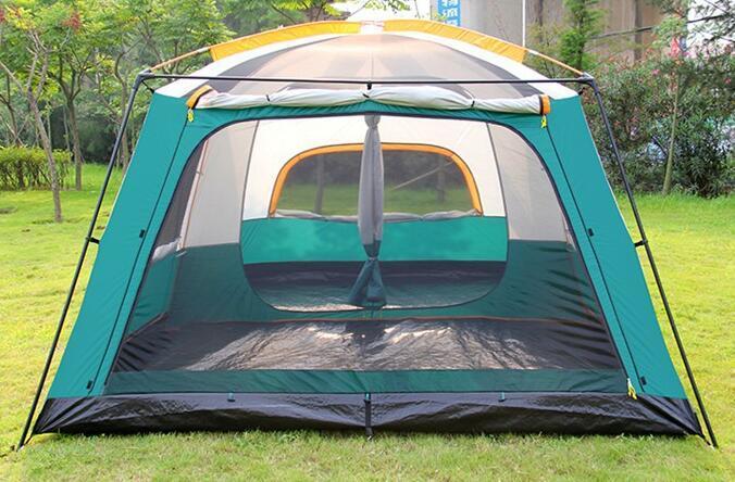 テント UVカット防水 簡単3秒設営 通気性 防虫  通気性抜群 8人以上の家族用 防災登山ピクニック旅行アウトドアキャンプ zp190503_画像2
