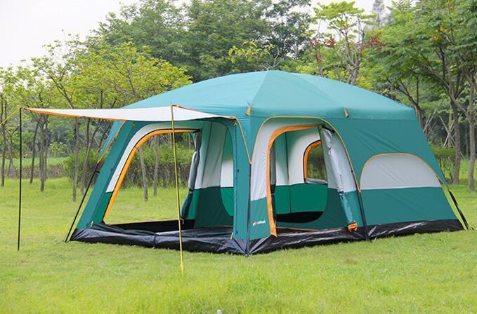 テント UVカット防水 簡単3秒設営 通気性 防虫  通気性抜群 8人以上の家族用 防災登山ピクニック旅行アウトドアキャンプ zp190503_画像4