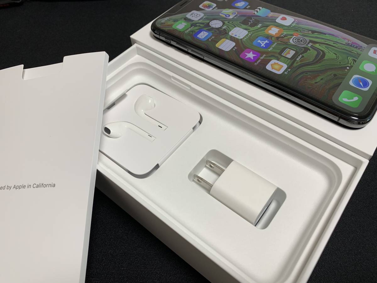 ◇極美品 Apple iPhone XS Max 256GB スペースグレイ SIMロック解除済み 判定〇 BATT100% おまけ付き◇_画像3