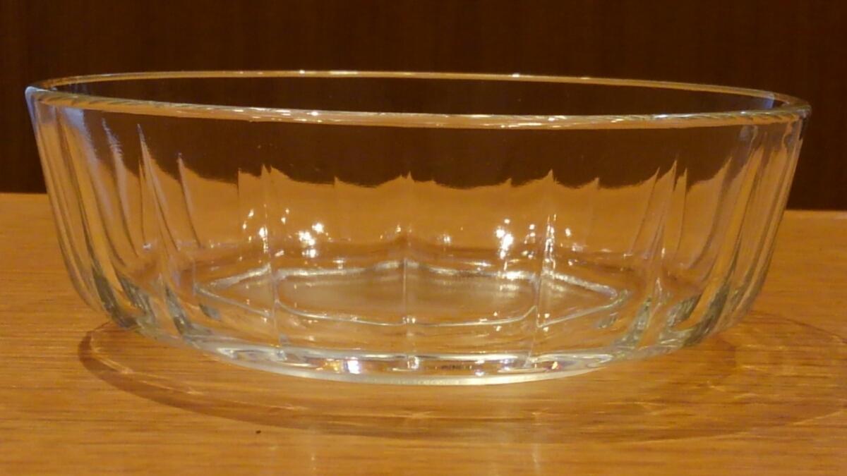《中古》ガラス鉢 小鉢 素麺鉢 13.5㎝_画像3