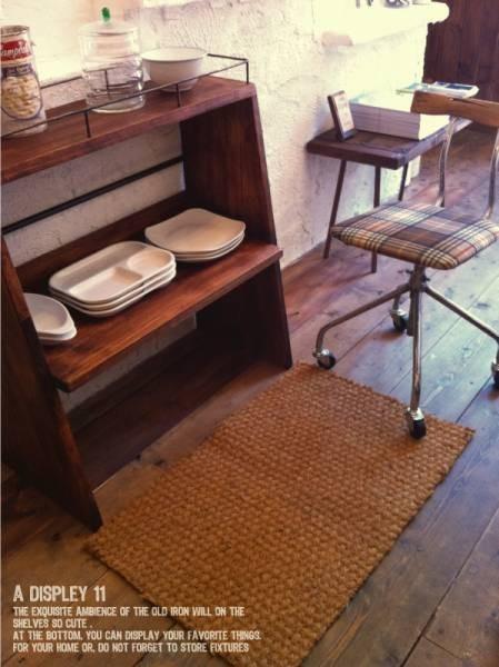 数量限定 CBS-80 シェルフ 棚 アイアン ディスプレイ キッチン カップボード 家具 収納 本棚 食器棚 花台 フラワースタンド_画像3