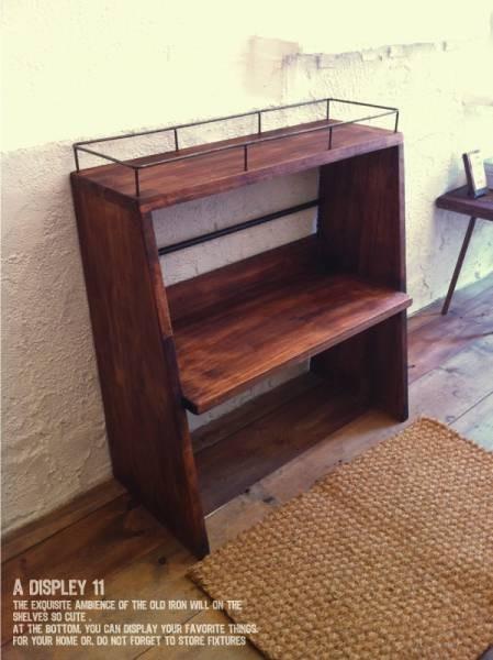 数量限定 CBS-80 シェルフ 棚 アイアン ディスプレイ キッチン カップボード 家具 収納 本棚 食器棚 花台 フラワースタンド_画像1