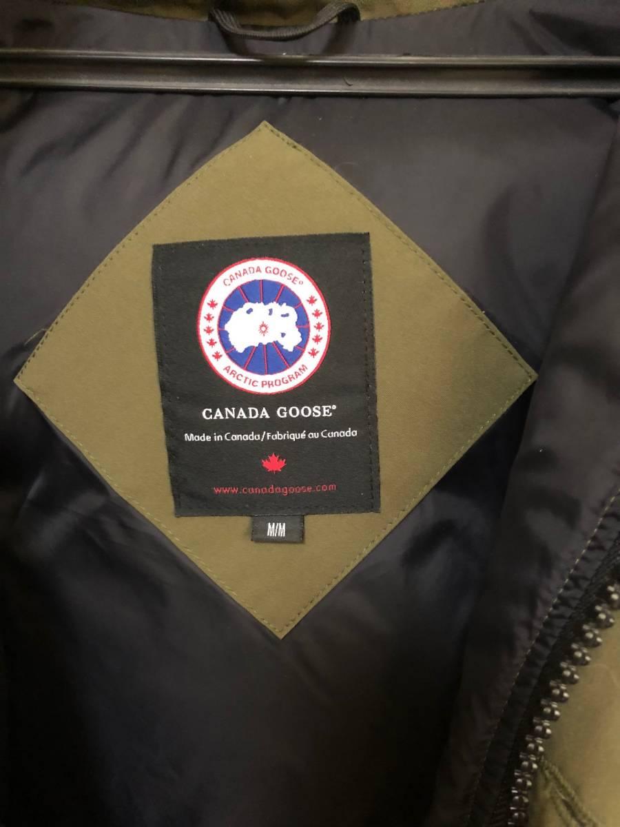 CANADA GOOSE RUSSELL PARKA カナダグース ラッセルパーカー ダウン ジャケット M カーキ_画像7