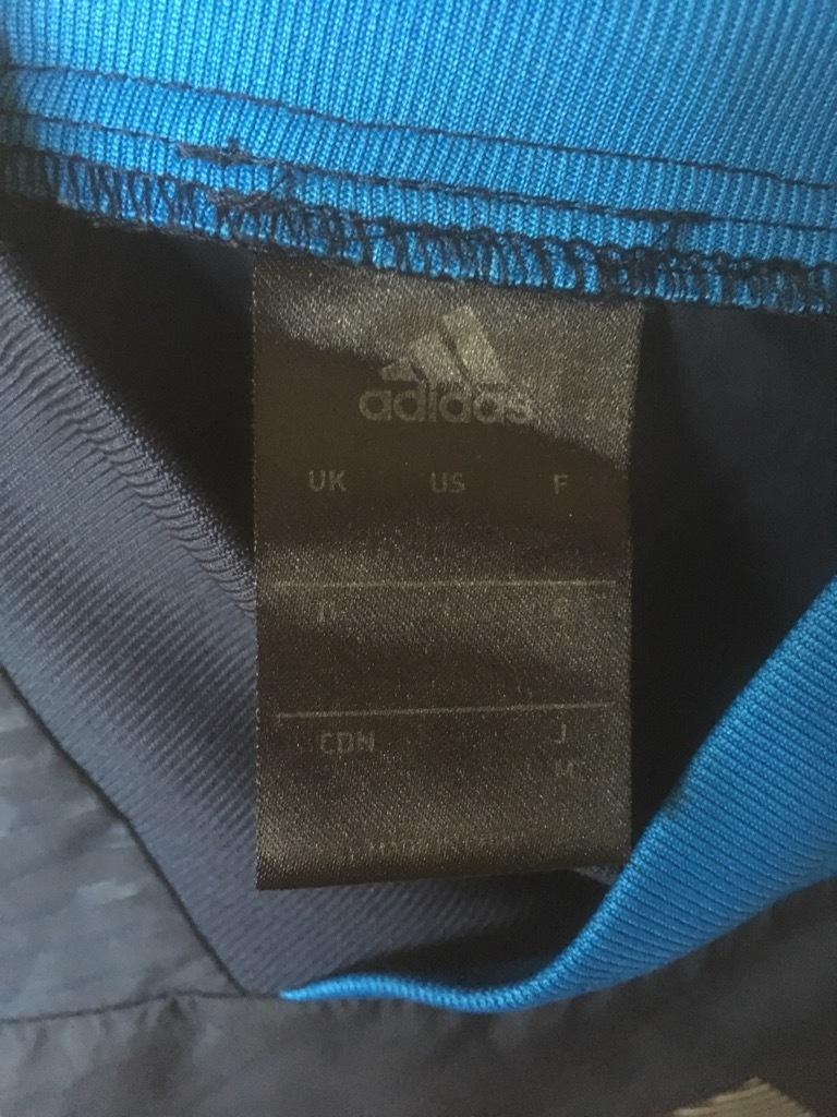 状態良好 adidas CLIMA STORM アディダス ウインドブレーカー ピステ上下 セットアップ S-M 紺×青_画像4