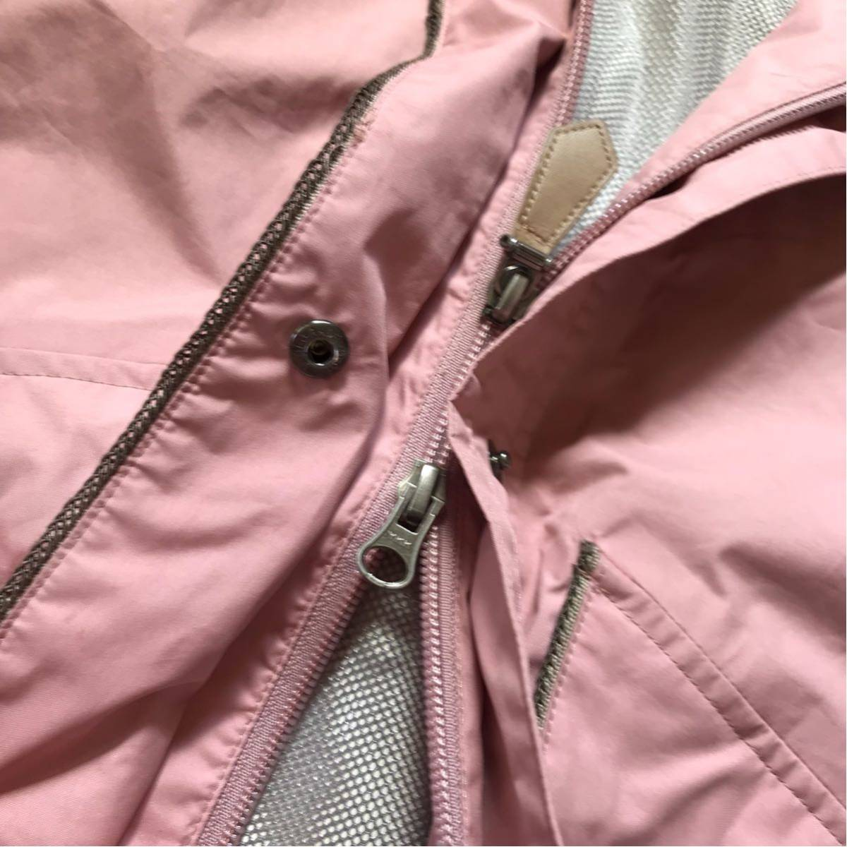 whole Earth ホールアース ゴアテックス仕様 マウンテンパーカー ジャンパー ベビーピンク色 Lサイズ GORE TEX_画像3